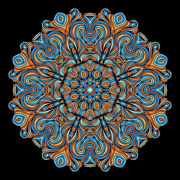 Elementos decorativos vintage com padrão oriental. modelo de ioga. mandalas. islã, cultura turca indiana do paquistão e do paquistão. ilustração vetorial Vetor Premium