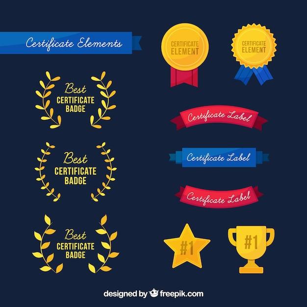 Elementos do certificado Vetor grátis