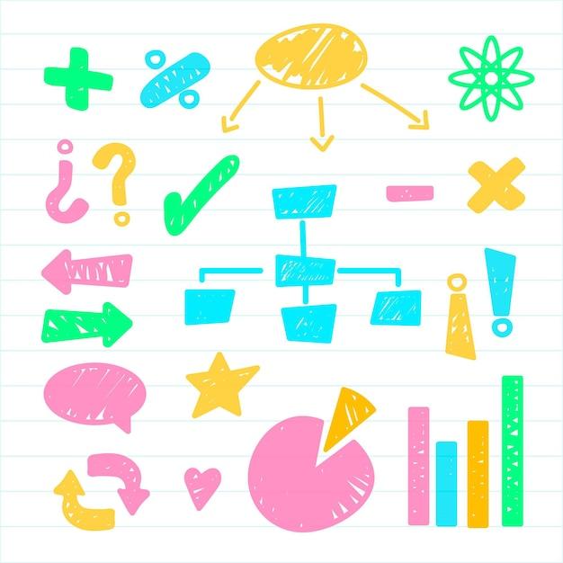 Elementos do infográfico escolar Vetor grátis