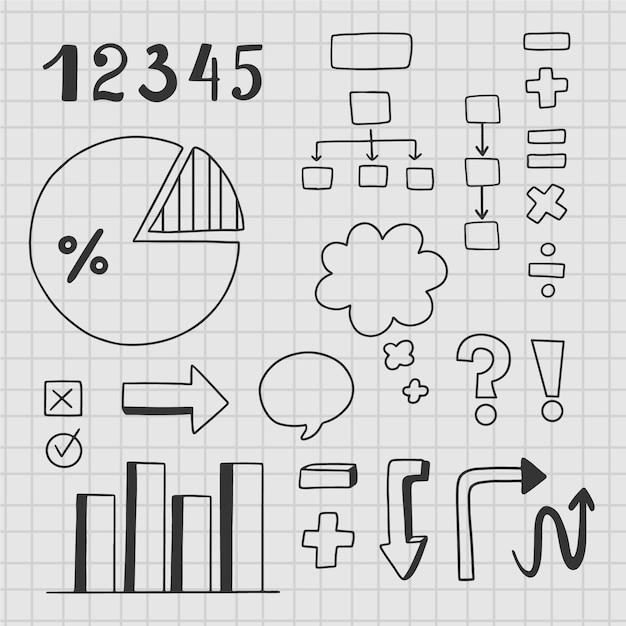 Elementos infográficos para aulas na escola Vetor grátis
