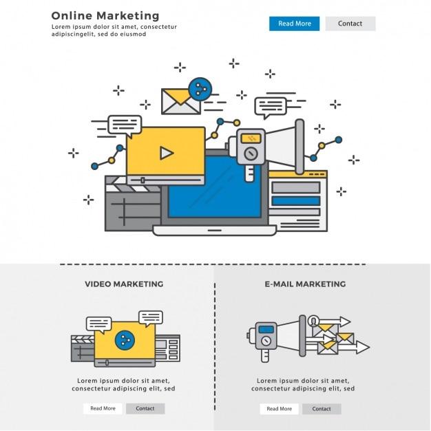 Elementos infographic sobre marketing digital Vetor grátis