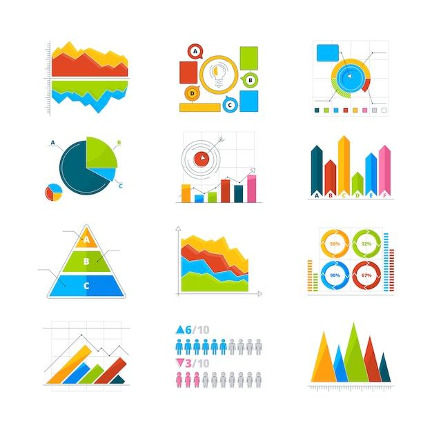 Elementos modernos para infográficos Vetor Premium
