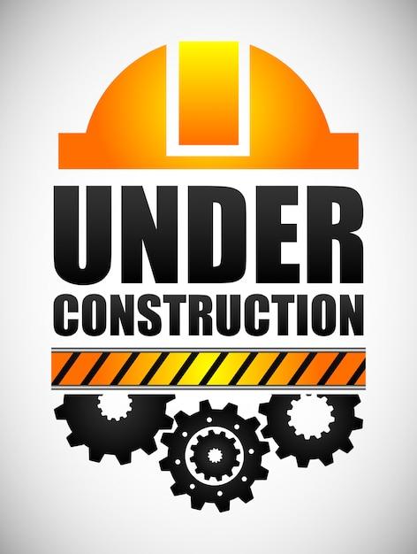 Em construção Vetor Premium