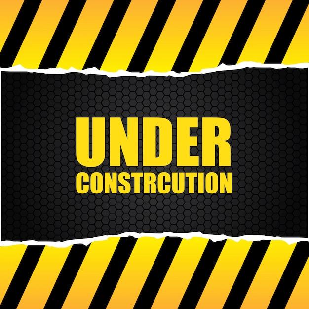 Em construção Vetor grátis