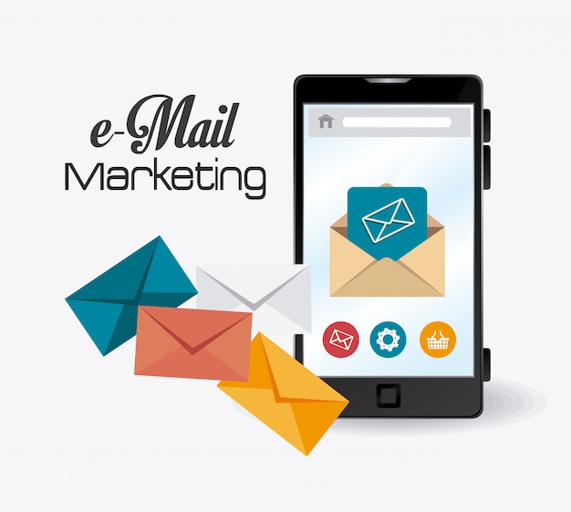 Email marketing design. Vetor Premium