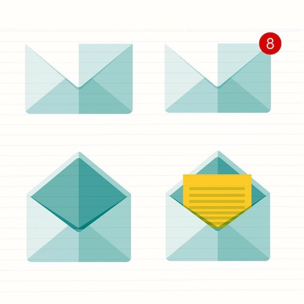 Emailing e comunicação global Vetor Premium