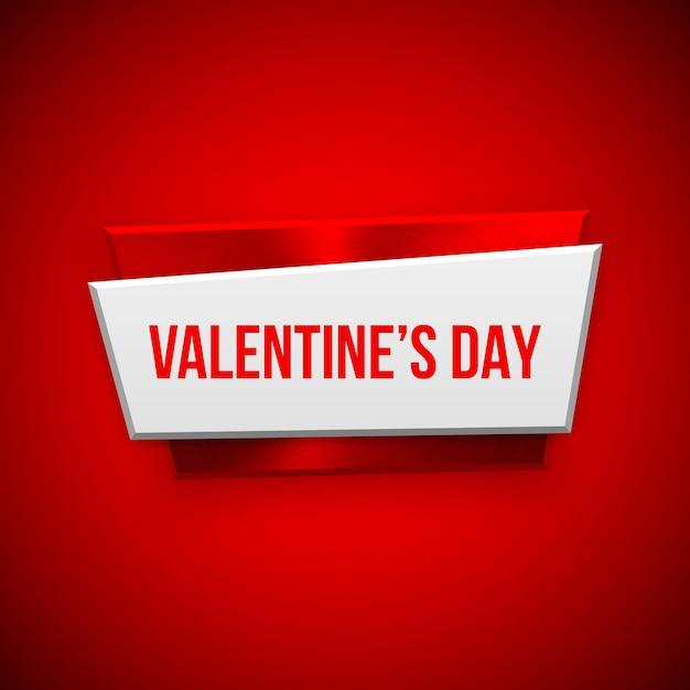 Emblema abstrato vermelho do dia dos namorados Vetor Premium