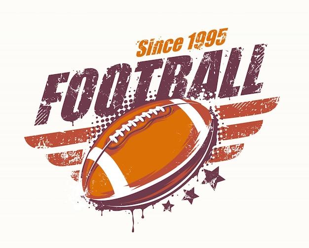 Emblema americano de futebol americano Vetor grátis