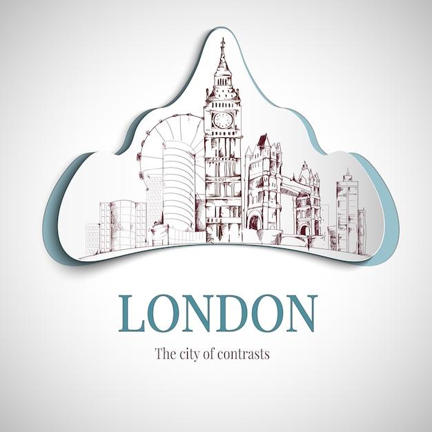 Emblema da cidade de londres Vetor grátis