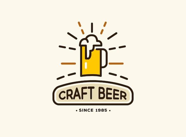 Emblema de cervejaria com logotipos de cervejas artesanais, emblemas de cervejaria, bar, pub, cervejaria, cervejaria, taberna Vetor grátis