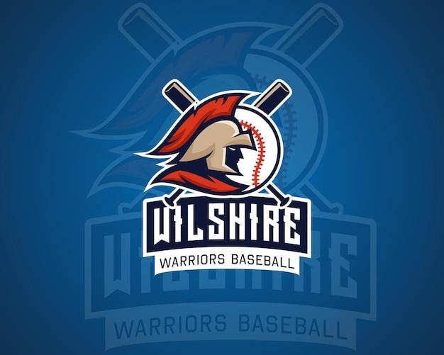 Emblema de espadas de beisebol Vetor Premium