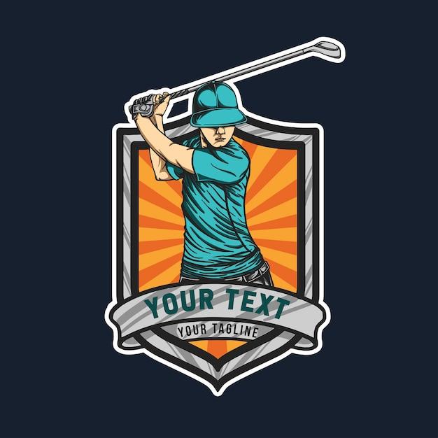 Emblema de golfe Vetor Premium