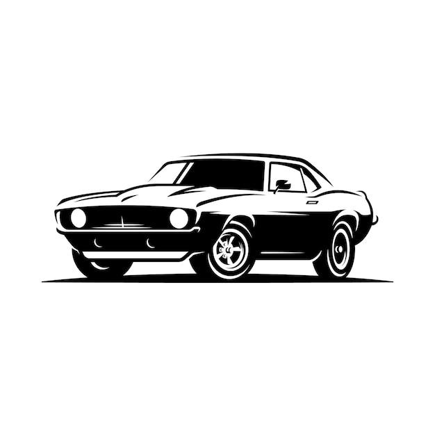 Emblema do carro retrô muscular. Vetor Premium