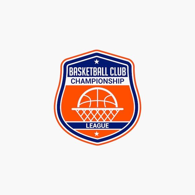 Emblema do clube de basquete Vetor Premium
