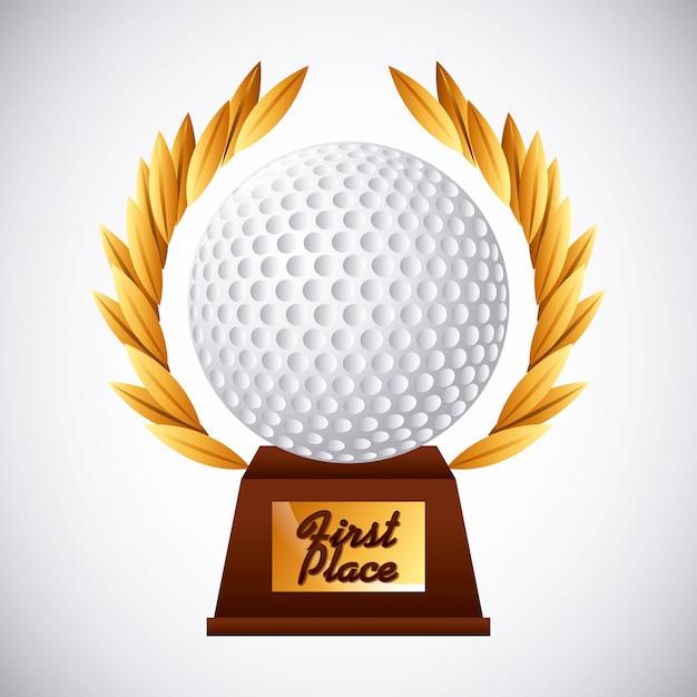 Emblema do clube de golfe Vetor Premium