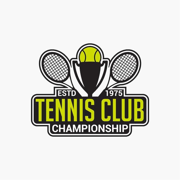 Emblema do clube de tênis Vetor Premium