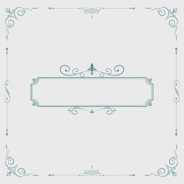 Emblema em branco de redemoinho vintage Vetor grátis