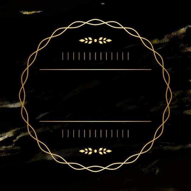 Emblema em branco dourado Vetor grátis