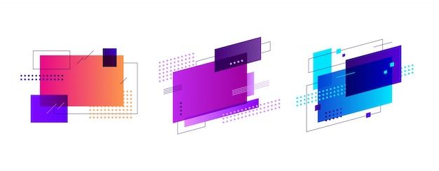 Emblemas criativos para cartaz Vetor grátis