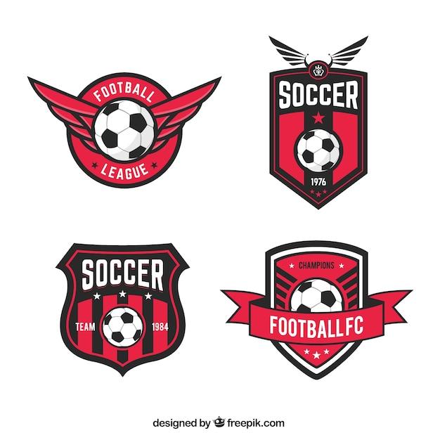 Emblemas da liga de futebol Vetor grátis
