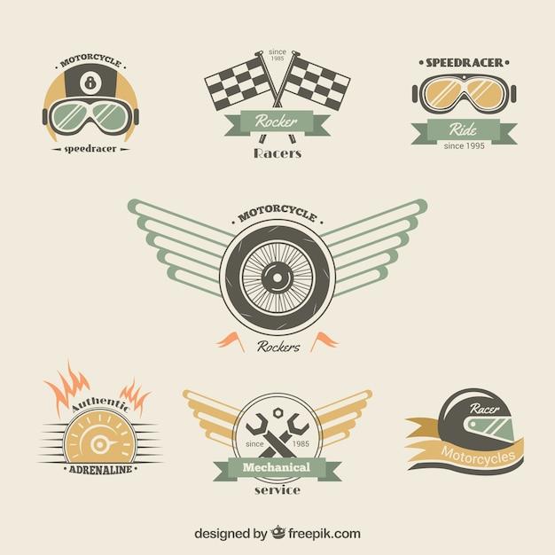 Emblemas da motocicleta Vetor Premium