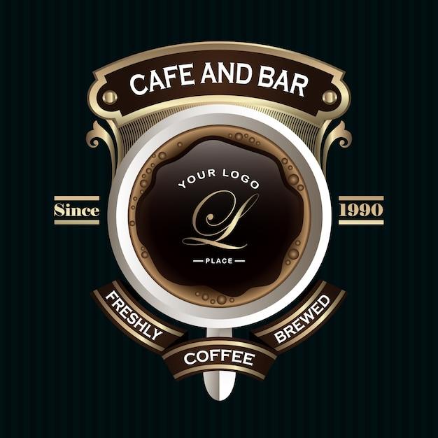 Emblemas de café retrô Vetor Premium