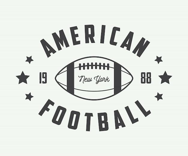 Emblemas de futebol americano. Vetor Premium