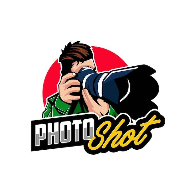 Emblemas do logotipo da fotografia da câmera Vetor Premium