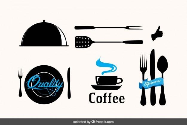 Emblemas do restaurante Vetor grátis