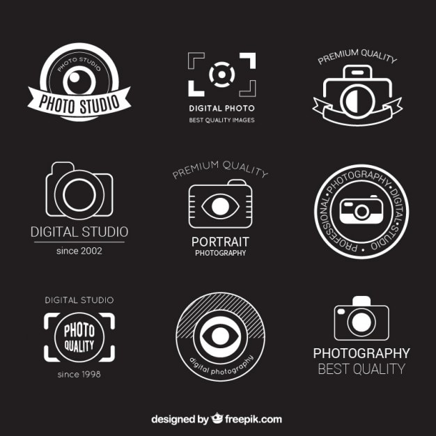 Emblemas fotografia retro Vetor grátis