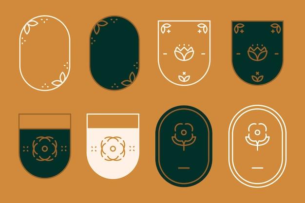 Emblemas modernos Vetor grátis