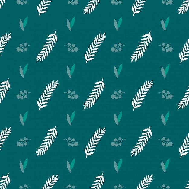Embrulho verde deixar sem costura de fundo Vetor Premium