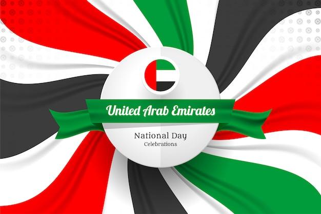 Emirados árabes unidos bandeira conceito fundo Vetor Premium