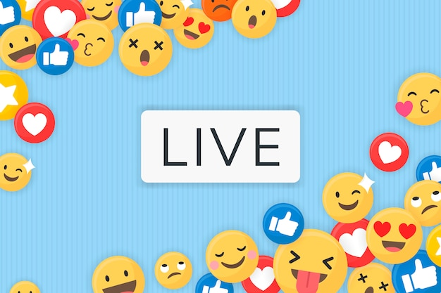 Emoji emoldurado fundo Vetor grátis