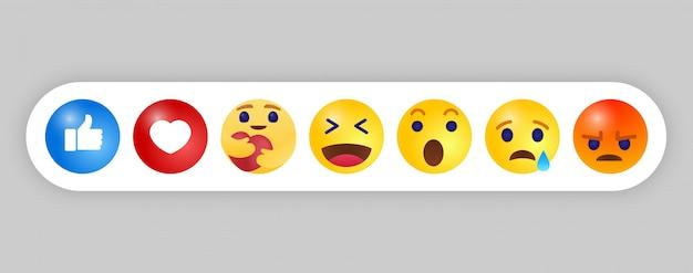 Emoji emoticon. estilo de design de tendência, ícone de mídia social Vetor Premium