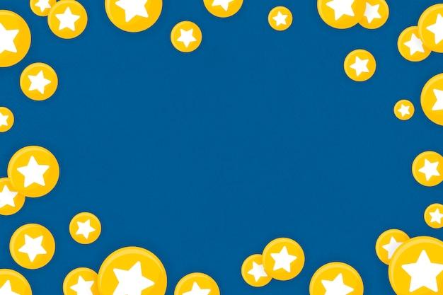 Emoji estrela emoldurado fundo Vetor grátis