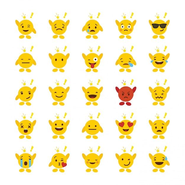 Emoji icon design Vetor Premium