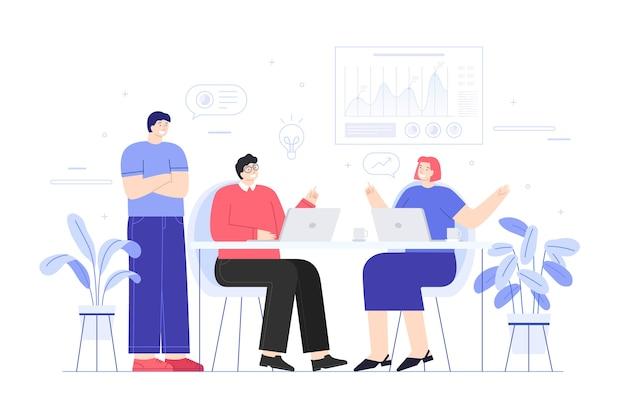 Empregados discutindo no escritório Vetor grátis