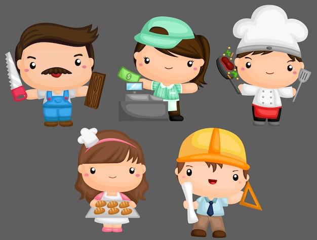 Emprego e ocupação Vetor Premium