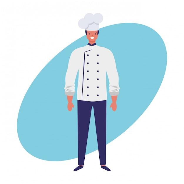 Empregos de chef e mão de profissão desenhar Vetor Premium