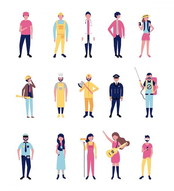 Empregos em vestuário profissional Vetor grátis