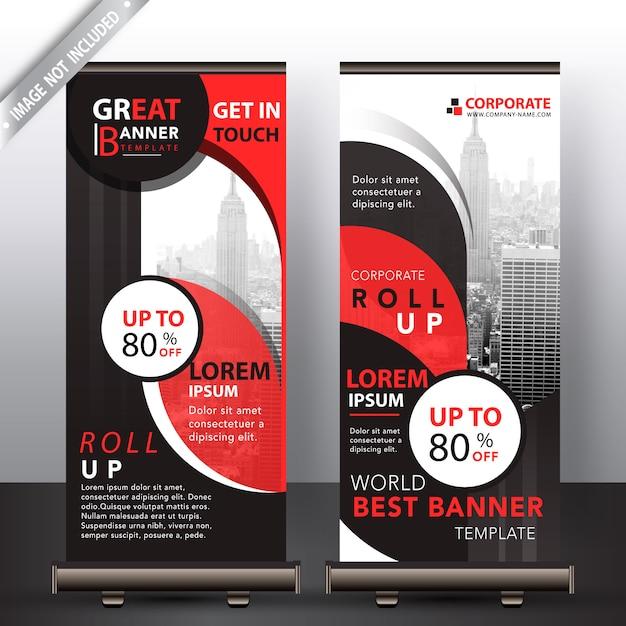 Empresa abstrata vermelha arregaçar o design Vetor grátis