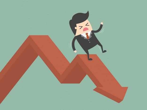 Empresário caindo Vetor grátis