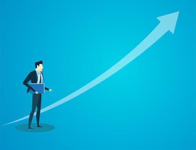 Empresário espera documento financeiro Vetor Premium