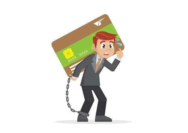 Empresário, tendo o cartão de crédito. Vetor Premium