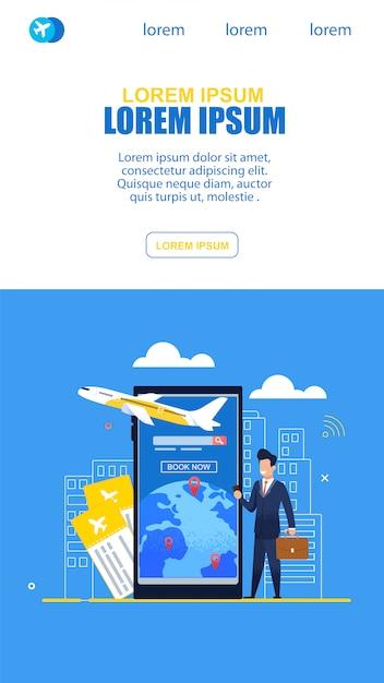 Empresário usou o serviço de ingressos on-line no avião Vetor Premium