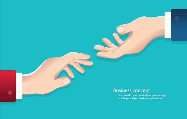 Empresários, apertando as mãos vector Vetor Premium