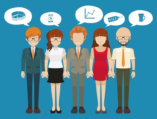 Empresários com pensamentos diferentes Vetor grátis