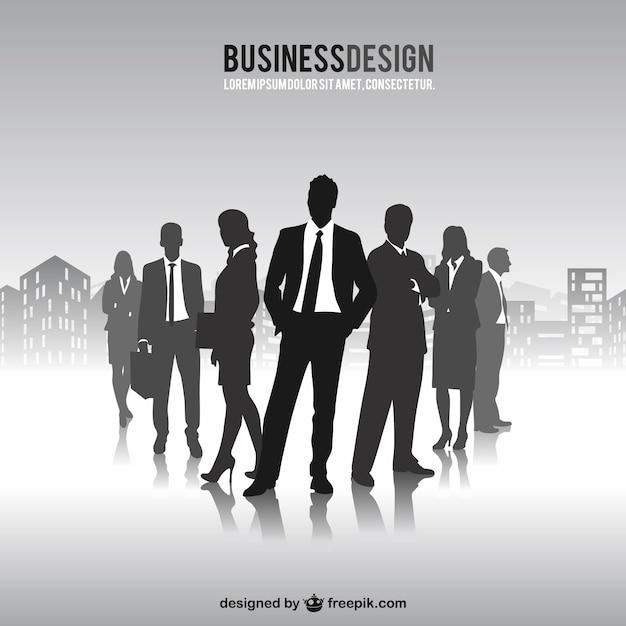 Empresários livres silhuetas vetor Vetor grátis