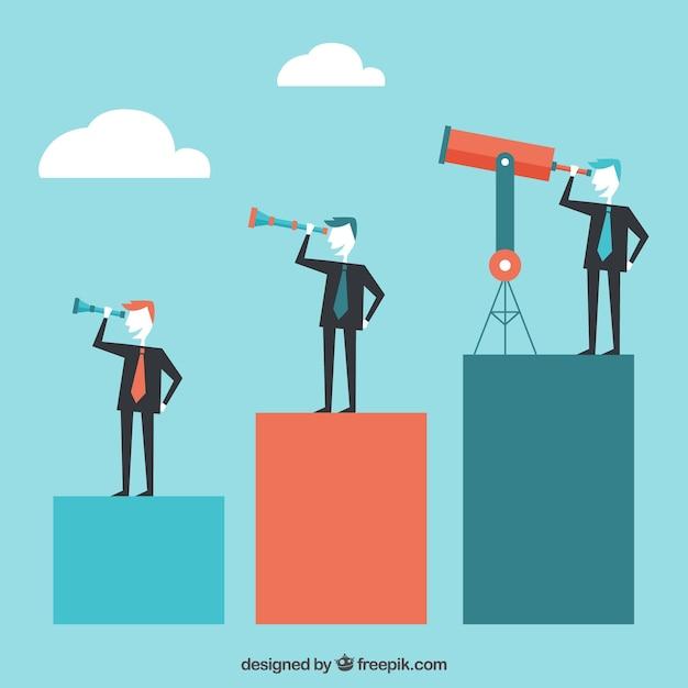 Empresários procurando novos alvos Vetor grátis